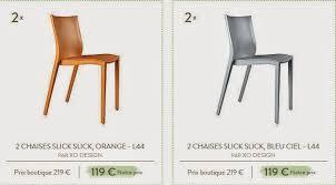 chaise slick slick ventes privees sur slick slick by starck