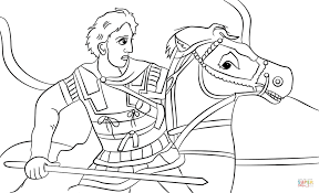 alexander the great coloring page free printable coloring pages