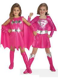 Supergirl Halloween Costumes Pink Batgirl Supergirl Superhero Fancy Dress Kids Toddler