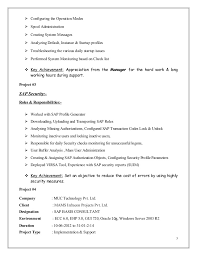 Sample Resume For Sap Mm Consultant Sap Security Resume An Information Security Analyst Resume Would