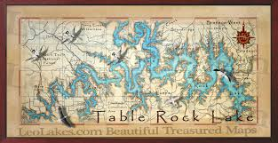 how big is table rock lake table rock lake decor maps