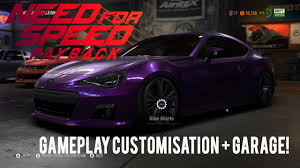 subaru brz r8 body kit need for speed payback subaru brz customization garage youtube