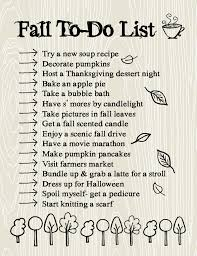 fall to do list time for the important things lemon