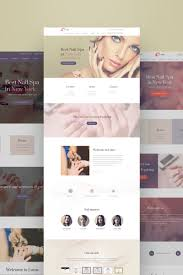 beauty salon weblium website concept 64714