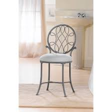 Vanity With Stool Hillsdale O U0027malley Vanity Stool In Gray Walmart Com