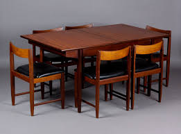 Teak Dining Tables And Chairs Vintage Modern Mid Century Teak Dining Table Chair Set