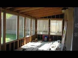Do It Yourself Patio Cover by Diy Patio Room Youtube