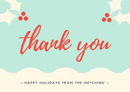christmas thank you cards customize 48 christmas thank you card templates online canva