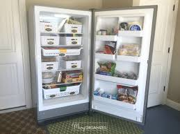 how to organize a stand up freezer in the garage freezer