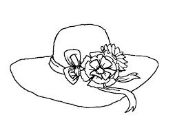 dibujo sombrero flores colorear dibujos net