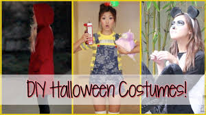 3 last minute diy halloween costumes ilikeweylie youtube