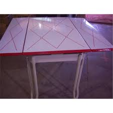 retro 1950 u0027s metal dining table w 2 slide out leaves