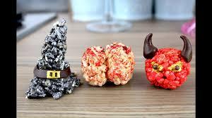 brains witches hats u0026 devils halloween rice krispie treats
