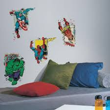 superhero wall decals murals decor the home depot marvel superhero burst peel and stick giant wall decal