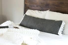 bolster bed pillows long bed pillow extra long lumbar pillow made from a table runner so