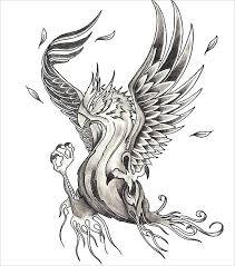 21 mind blowing phoenix bird art drawings free u0026 premium templates