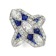 fd gallery an art deco sapphire and diamond plaque ring circa 1920