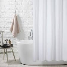 extra wide and extra long white polyester shower curtains