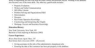 Real Estate Resume Templates Real Estate Agent Resume Sample Sample Resume Objective Real