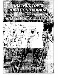 solutions manual analytical mechanics 7e fowles