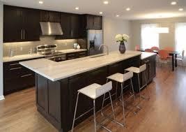cuisine ilot table design interieur cuisine îlot dangle style moderne blanc inox