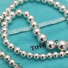 silver beads necklace tiffany images Tiffany co jewelry tiffany hardwear graduated ball necklace jpg
