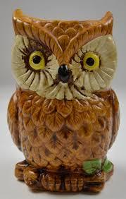brown yellowed eyed owl ceramic planter 6