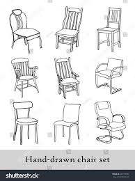 Types Of Chairs by Handdrawn Chair Set Different Types Chairs Stock Vector 267135257