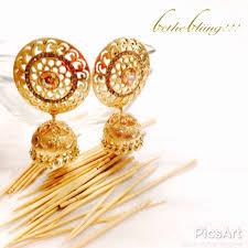 fancy jhumka earrings traditional pearl jewelery stylish fancy party wear jhumki
