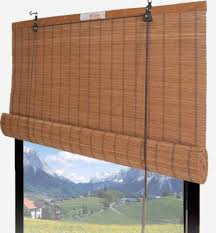 Bamboo Shades Blinds Amazon Com Bamboo Roll Up Shade Window Blind 48