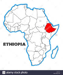 Map Of Ethiopia Ethiopia Outline Inset Into A Map Of Africa Over A White