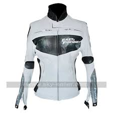 white motorcycle jacket and furious 7 premiere vin diesel white leather jacket