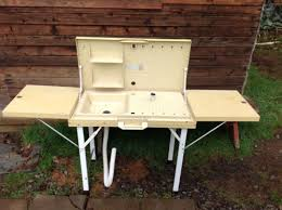 Oztrail Camp Kitchen Deluxe With Sink - super cool vintage portable fold up camping table with sink and