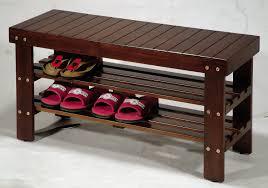 Hallway Bench Storage by Amazon Com Wooden Shoe Bench Home U0026 Kitchen