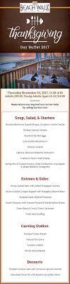 thanksgiving menu walk cafe at henderson park inn