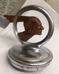 vintage ornament 1932 pontiac indian chief americana
