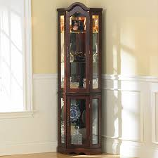 Amazon Com Southern Enterprises Lighted Corner Display Cabinet