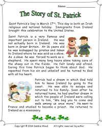 st patrick u0027s day reading u0026 activities vocabulary worksheets