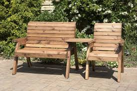 Tete A Tete Garden Furniture by Bench Solid Wood Garden Bench Uk Made Fully Assembled Heavy Duty