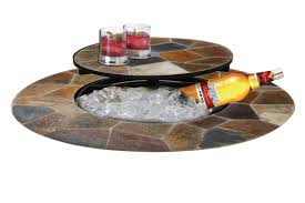patio table lazy susan arizona sands fire pit table dm 643610n i deeco consumer products
