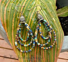 Handmade Seed Beaded Gold Plated Best 25 Beaded Earrings Ideas On Pinterest Diy Beaded Earrings