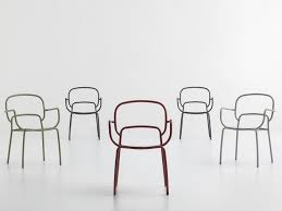 Design Chairs Lacquered Metal Chair With Armrests Moyo By Chairs U0026 More Design