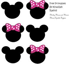 25 minnie mouse cupcake toppers ideas minie