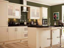 Green Kitchens With White Cabinets by Green Wall Kitchen