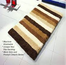 Striped Bathroom Rugs Bilbao Striped Bath Rug With Thick Pile