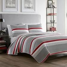 Red And Grey Comforter Bring A Contemporary Look To Your Bedroom With The Covington 8