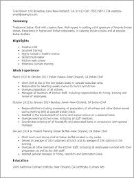 Kitchen Manager Resume Sample by Professional Indian Chef Templates To Showcase Your Talent