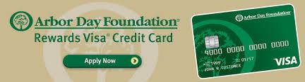 arbor day foundation rewards visa credit card commerce bank