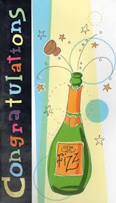 champagne bottle cartoon large champagne congratulations card cards love kates