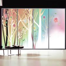 custom glass sliding doors patio doors privacy stickers on the window stained glass windows